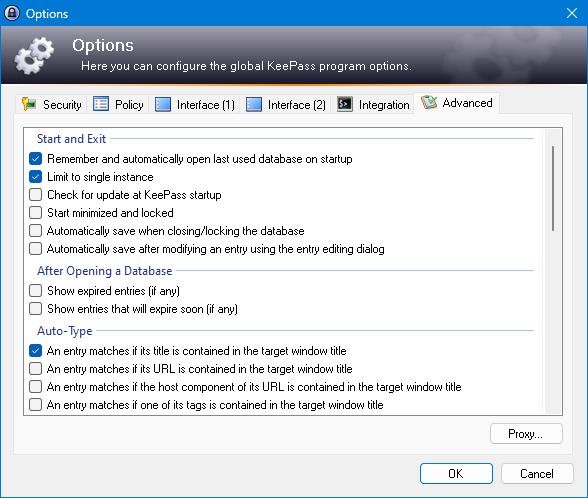 KeePass 2.x Screenshots