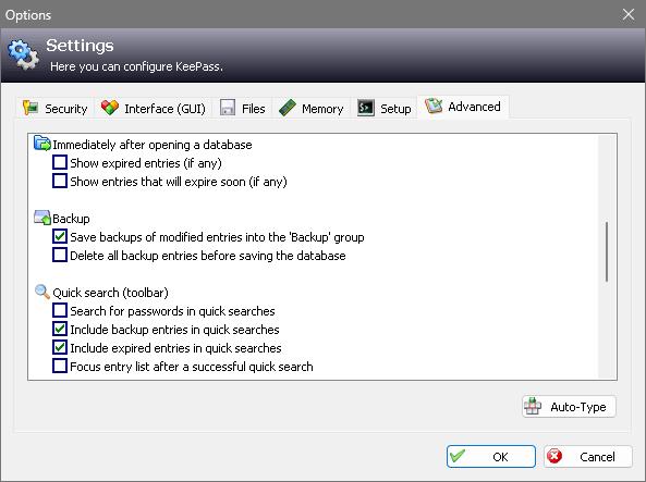 KeePass 1.x Screenshots