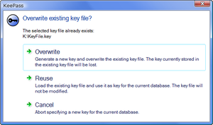 Key File Overwrite Prompt on Windows Vista