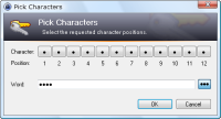Character Picking Dialog